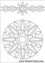 Pintar e Colorir Mandalas - Desenho 008