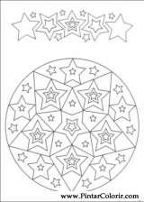 Pintar e Colorir Mandalas - Desenho 076
