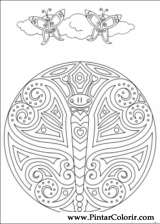 Pintar e Colorir Mandalas - Desenho 086
