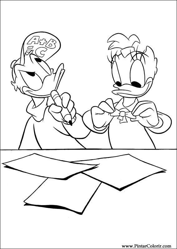 çizimler Ve Boya Için Renkli Daisy Baskı Tasarım 007