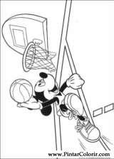 Pintar e Colorir Mickey - Desenho 123