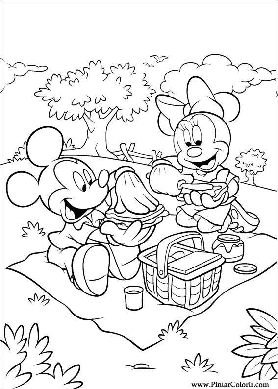 Desenhos Para Pintar E Colorir Minnie Imprimir Desenho 026