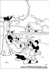 Pintar e Colorir Minnie - Desenho 007
