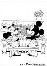 Pintar e Colorir Minnie - Desenho 008
