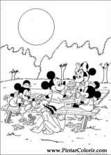 Pintar e Colorir Minnie - Desenho 014