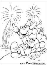 Pintar e Colorir Minnie - Desenho 022