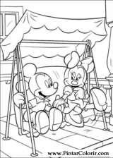 Pintar e Colorir Minnie - Desenho 025