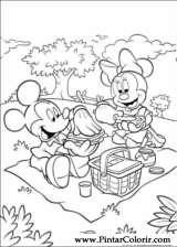 Pintar e Colorir Minnie - Desenho 026