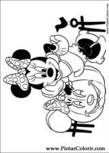 Pintar e Colorir Minnie - Desenho 035