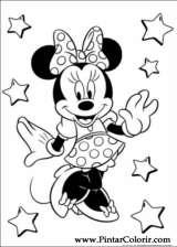 Pintar e Colorir Minnie - Desenho 045