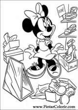 Pintar e Colorir Minnie - Desenho 052