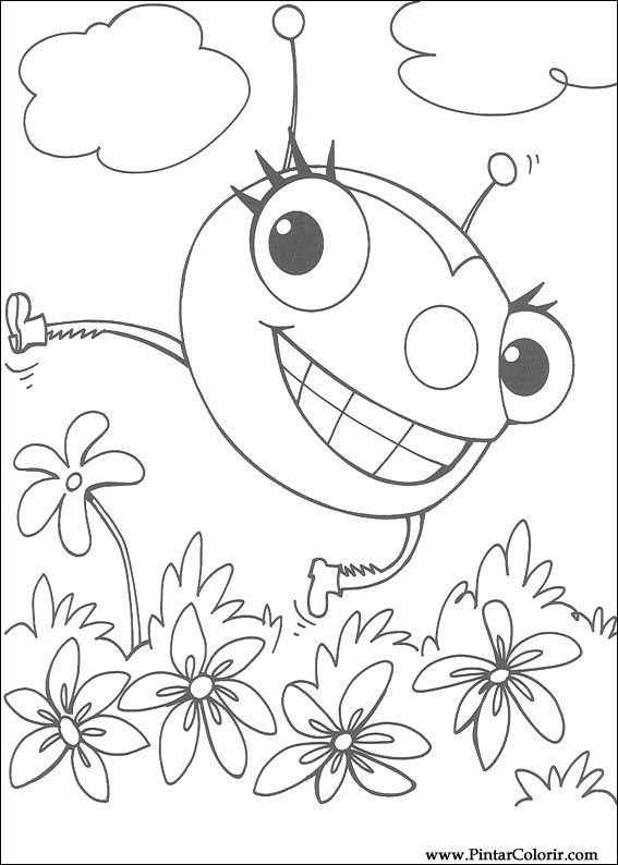 Pintar e Colorir Miss Spider - Desenho 002