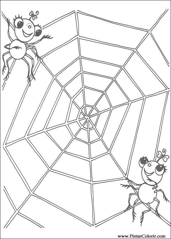 Pintar e Colorir Miss Spider - Desenho 014
