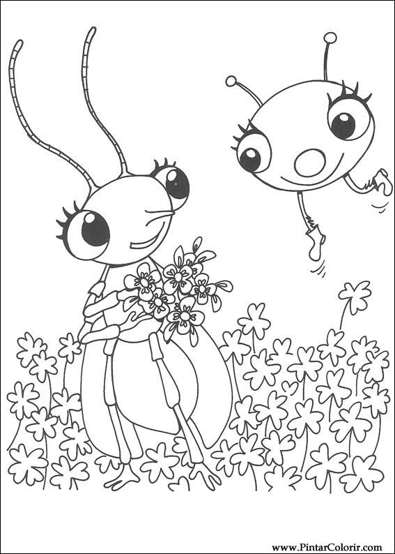 Drawings To Paint Colour Miss Spider Print Design 015