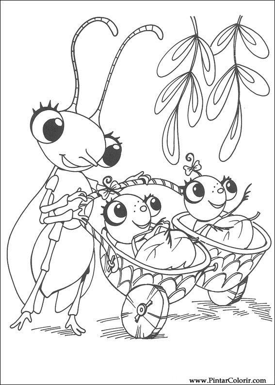 Pintar e Colorir Miss Spider - Desenho 016