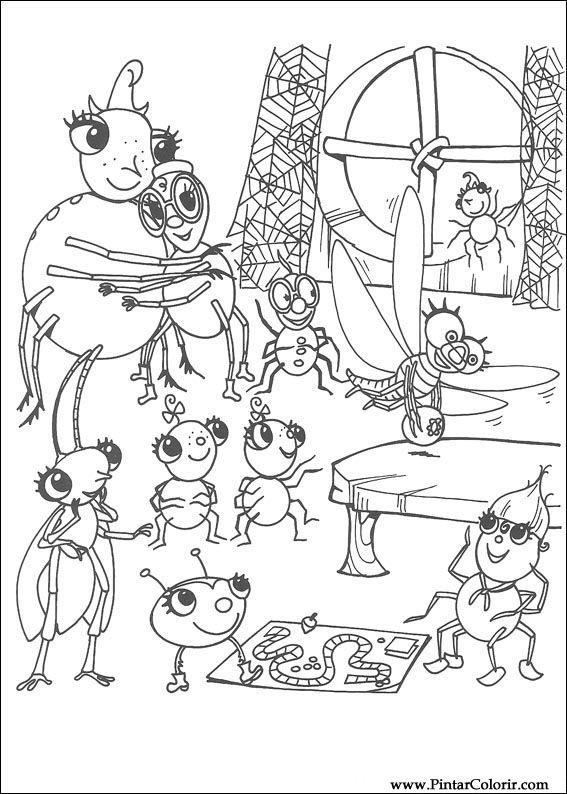 Dibujos Para Pintar Y Color Miss Spider Diseño De