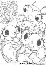 Pintar e Colorir Miss Spider - Desenho 011
