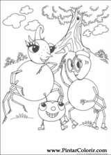 Pintar e Colorir Miss Spider - Desenho 020