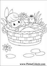 Pintar e Colorir Momentos Preciosos - Desenho 004