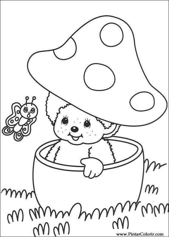 Pintar e Colorir Monchichi - Desenho 002