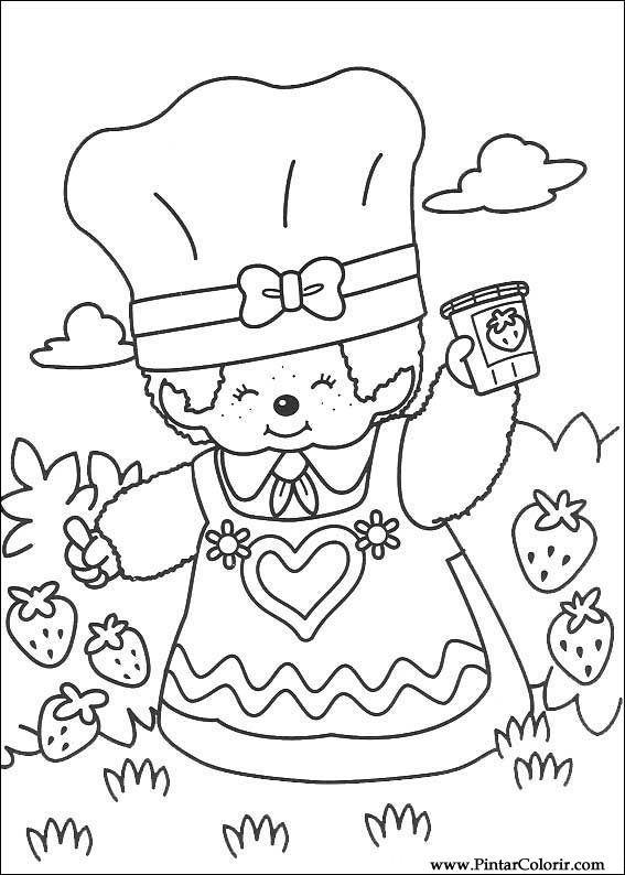 Pintar e Colorir Monchichi - Desenho 005