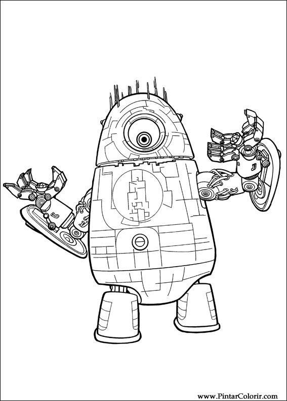 Dibujos para pintar & Colour Monstruos Aliens - Imprimir Diseño 007