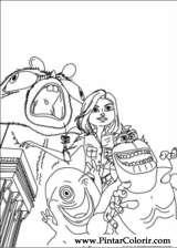 Pintar e Colorir Monstros Aliens - Desenho 003