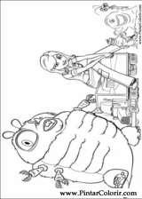 Pintar e Colorir Monstros Aliens - Desenho 006