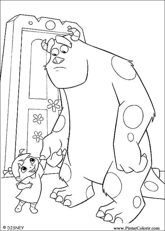 Drawings To Paint & Colour Monsters, Inc. - Print Design 003