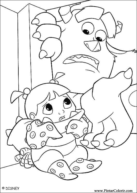 Drawings To Paint Colour Monsters Inc Print Design 013