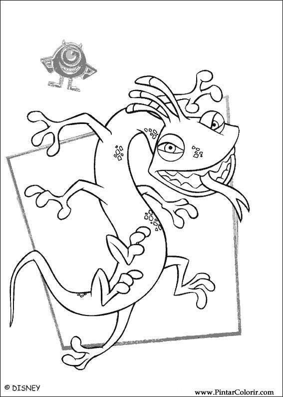 çizimler Boya Ve Renk Monsters Inc Için Baskı Tasarım 019