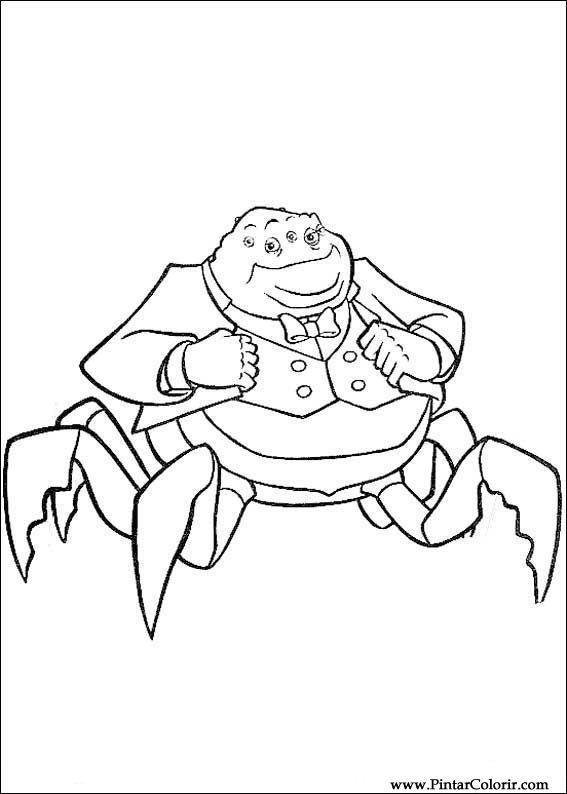 Dibujos para pintar y Color Monsters, Inc. - Diseño de impresión 024