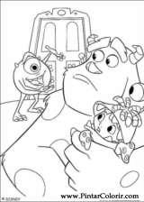 Cizimler Boya Ve Renk Monsters Inc Icin Baski Tasarim 002