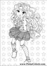 Pintar e Colorir Moxie Girlz - Desenho 005