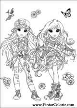 Pintar e Colorir Moxie Girlz - Desenho 007