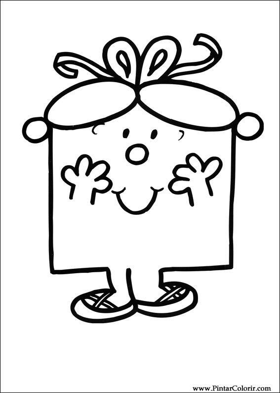 Drawings To Paint Colour Mr Men Print Design 045