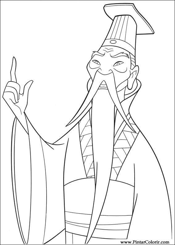 Mulan Emperor Of China Coloring Pages. Worksheet. Free Printable ...