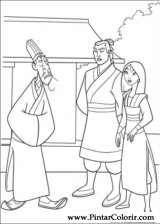 Pintar e Colorir Mulan - Desenho 005