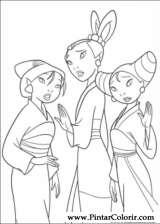 Pintar e Colorir Mulan - Desenho 010
