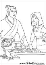 Pintar e Colorir Mulan - Desenho 013