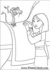 Pintar e Colorir Mulan - Desenho 024