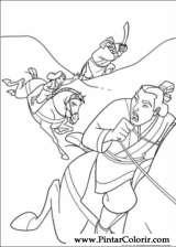 Pintar e Colorir Mulan - Desenho 025