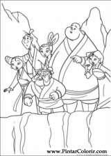 Pintar e Colorir Mulan - Desenho 028