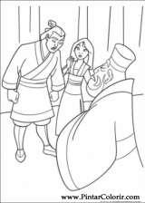 Pintar e Colorir Mulan - Desenho 031