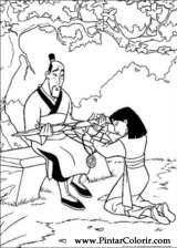 Pintar e Colorir Mulan - Desenho 036