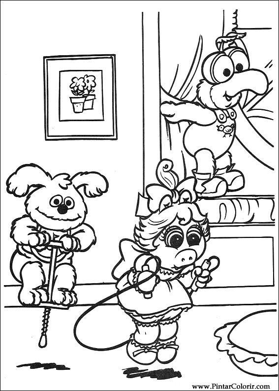 Dibujos para pintar y Color Muppet Babies - Diseño de impresión 016