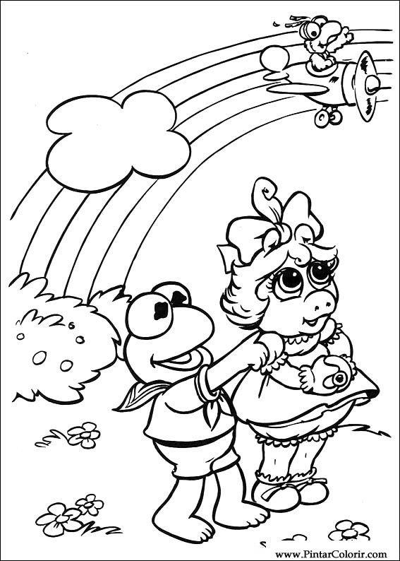 Pintar e Colorir Muppet Babies - Desenho 019