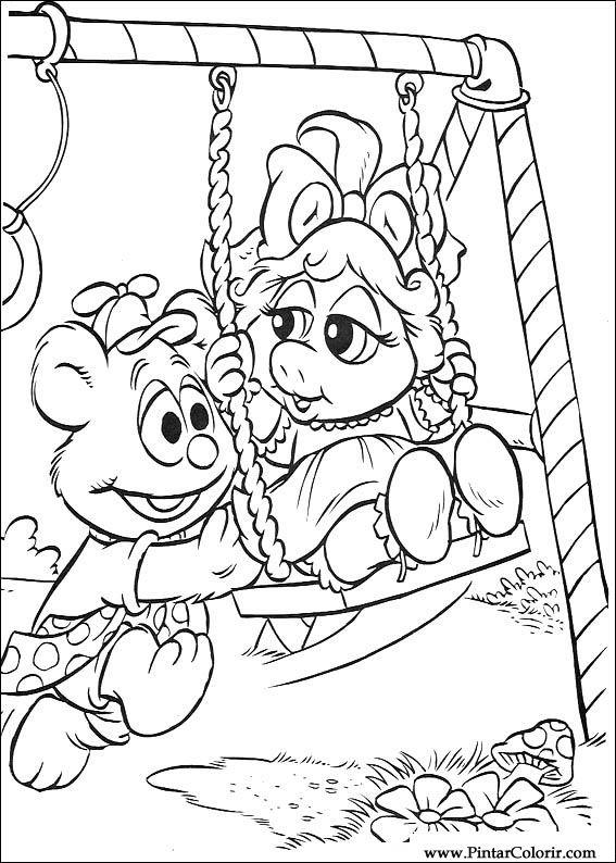 Dibujos para pintar y Color Muppet Babies - Diseño de impresión 020
