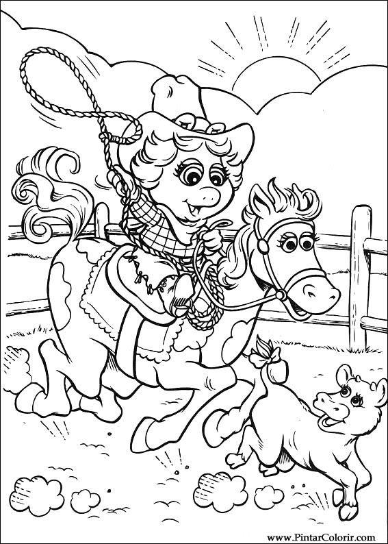 Dibujos para pintar y Color Muppet Babies - Diseño de impresión 025