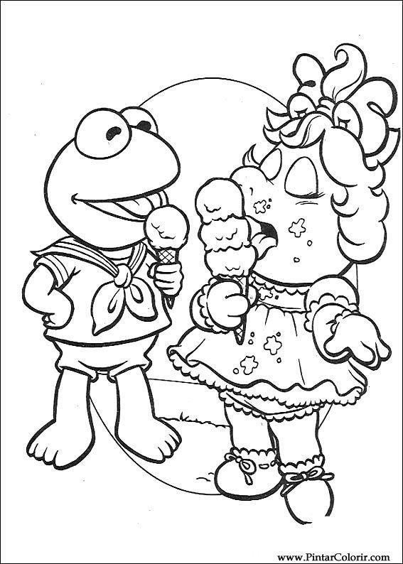 Pintar e Colorir Muppet Babies - Desenho 050
